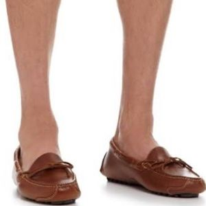 Men's Cole Haan Brown Leather Tie Loafers